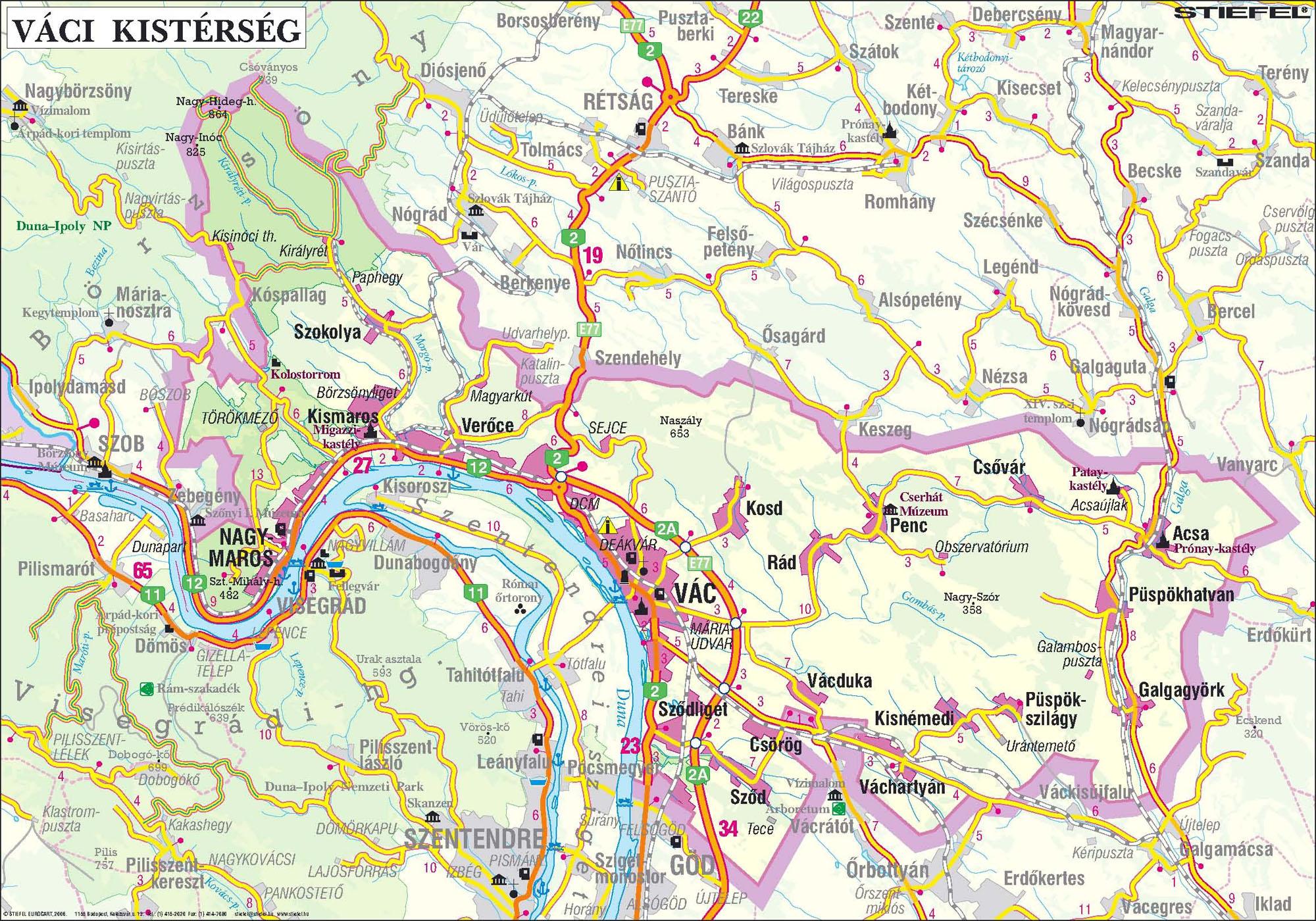 magyarország vác térkép Dunakanyar Többcélú Önkormányzati Kistérségi Társulás magyarország vác térkép